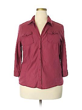 Essentials 3/4 Sleeve Button-Down Shirt Size 18 - 20 (Plus)