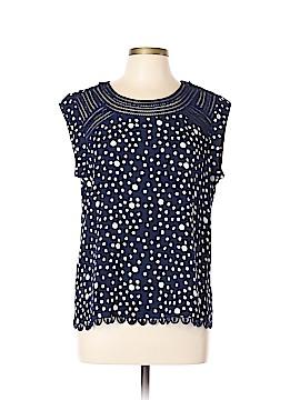Meadow Rue Short Sleeve Blouse Size L (Petite)