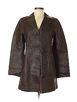 Max Studio Leather Jacket Size M