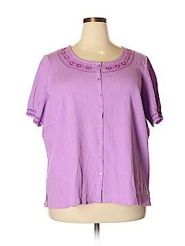 D&Co. Short Sleeve Blouse Size 2X (Plus)