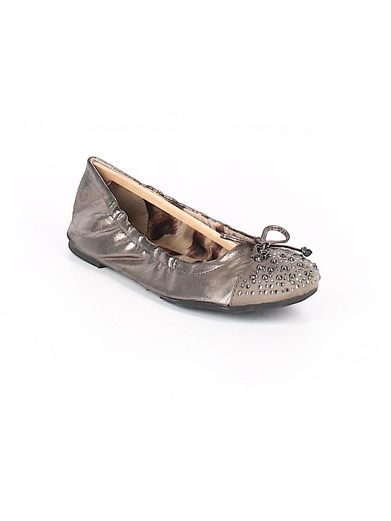 d0c06adae Sam Edelman Metallic Silver Flats Size 4 - 72% off