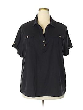 Northcrest Short Sleeve Button-Down Shirt Size 3X (Plus)