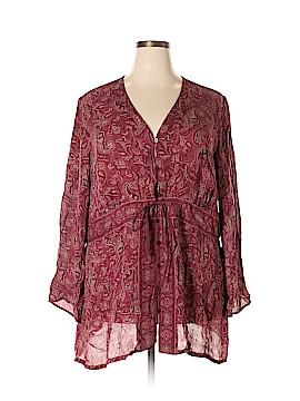 Venezia Long Sleeve Silk Top Size 26 (Plus)