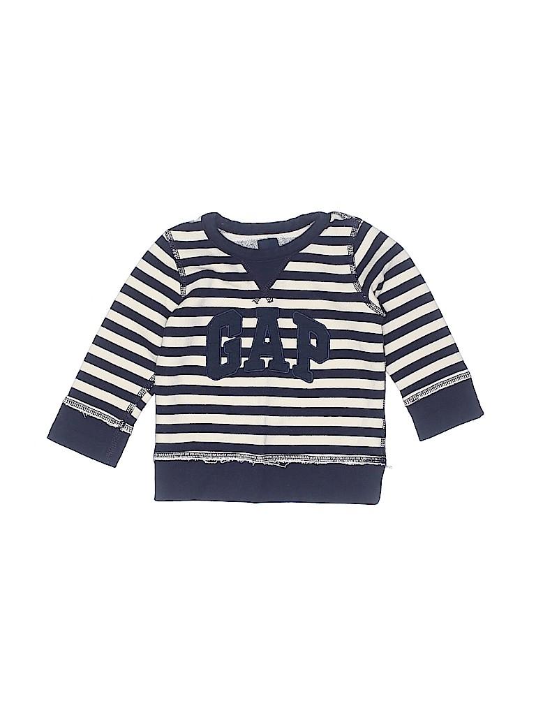 e71b28bd5 Baby Gap 100% Polyester Stripes Graphic Navy Blue Sweatshirt Size 18 ...