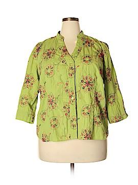 DressBarn 3/4 Sleeve Button-Down Shirt Size 2X (Plus)