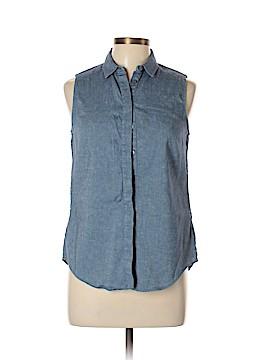 Victoria Beckham Sleeveless Button-Down Shirt Size 6
