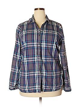 Ali & Kris Long Sleeve Button-Down Shirt Size 2X (Plus)