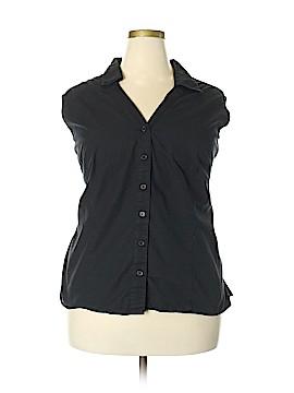 St. John's Bay Sleeveless Button-Down Shirt Size 3X (Plus)