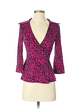 Diane von Furstenberg 3/4 Sleeve Silk Top Size 2