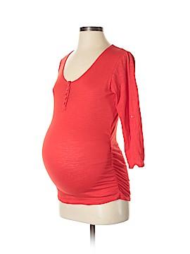 Oh! Mamma 3/4 Sleeve Henley Size S (Maternity)