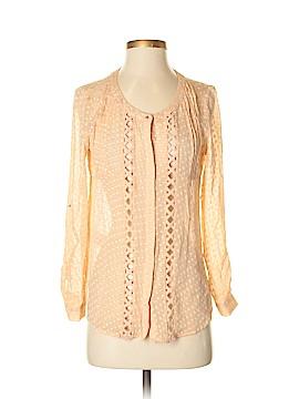 Meadow Rue Long Sleeve Silk Top Size XS