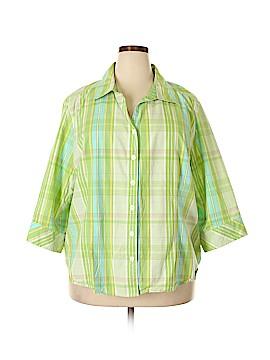 Erika 3/4 Sleeve Button-Down Shirt Size 3X (Plus)