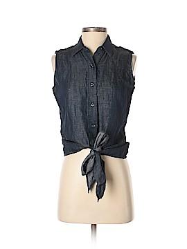 Iris & Ink Sleeveless Button-Down Shirt Size 6
