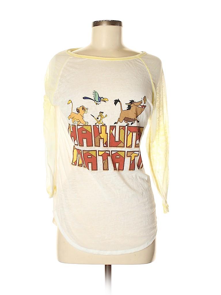 Disney Women 3/4 Sleeve T-Shirt Size M