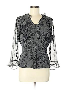 ILE New York Long Sleeve Silk Top Size M