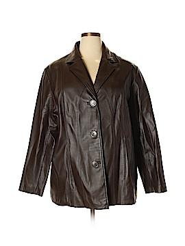 Calvin Klein Leather Jacket Size 1X (Plus)