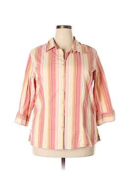 Carolina Colours 3/4 Sleeve Button-Down Shirt Size 20 (Plus)