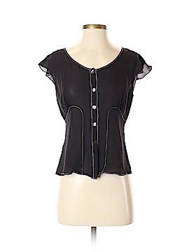 Studio M Short Sleeve Silk Top Size S