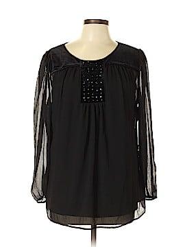 Susan Graver Long Sleeve Blouse Size 12