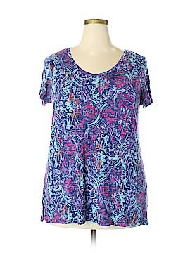 Lucy & Laurel Short Sleeve T-Shirt Size 2X (Plus)
