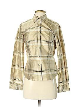 Ann Taylor Factory Long Sleeve Silk Top Size 2