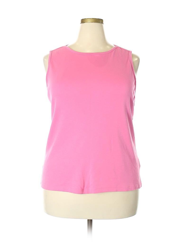 Westbound Women Sleeveless T-Shirt Size 2X (Plus)