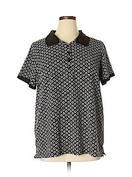 Laura Scott Short Sleeve Polo Size 2X (Plus)