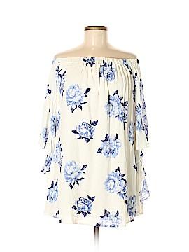 Blu Pepper Short Sleeve Blouse Size M
