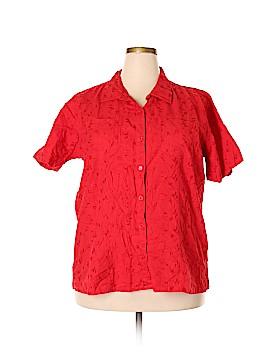 Bobbie Brooks Short Sleeve Button-Down Shirt Size 18 (Plus)
