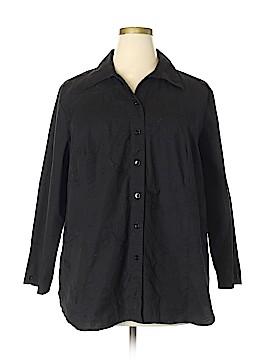 Edward 3/4 Sleeve Button-Down Shirt Size 3X (Plus)