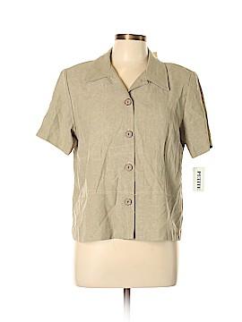 Fashion Bug Short Sleeve Blouse Size L (Petite)