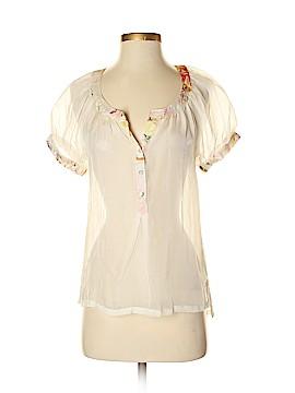 Da-Nang Short Sleeve Silk Top Size XS