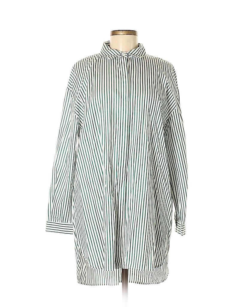 bd9d927226 Zara 100% Cotton Stripes White Long Sleeve Button-Down Shirt Size M ...