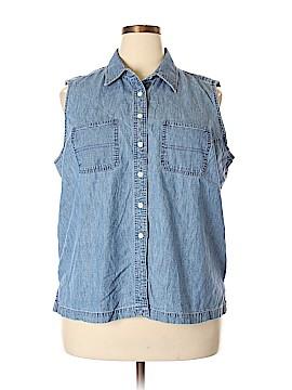 Jones New York Sport Sleeveless Button-Down Shirt Size 20 (Plus)