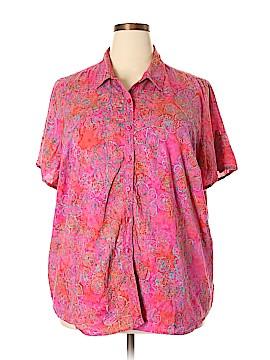 DressBarn Short Sleeve Button-Down Shirt Size 3X (Plus)