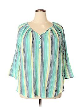 Chaps 3/4 Sleeve Blouse Size 2X (Plus)