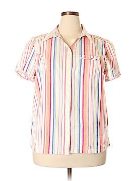 Liz & Me Short Sleeve Button-Down Shirt Size 18 - 20 (Plus)