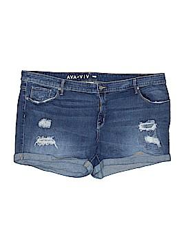 Ava & Viv Denim Shorts Size 24W (Plus)