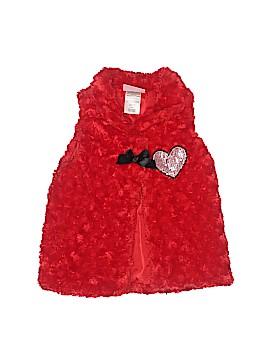 Young Hearts Faux Fur Vest Size 4T
