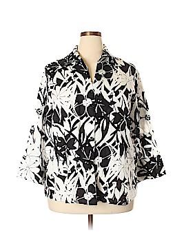 Harve Benard 3/4 Sleeve Button-Down Shirt Size 2X (Plus)
