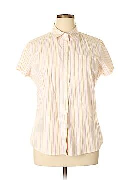 Isaac Mizrahi Short Sleeve Button-Down Shirt Size XL