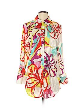Sharon Young Long Sleeve Button-Down Shirt Size 8