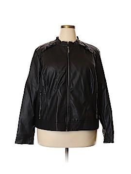 Level Eight Faux Leather Jacket Size 3X (Plus)