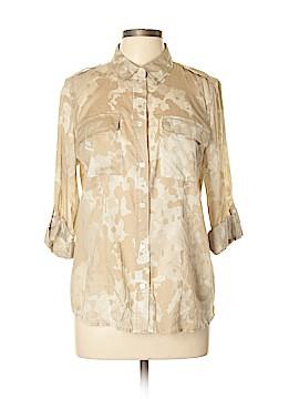 MICHAEL Michael Kors 3/4 Sleeve Button-Down Shirt Size L