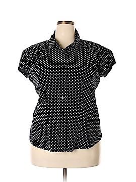 Venezia Short Sleeve Button-Down Shirt Size 18 (Plus)