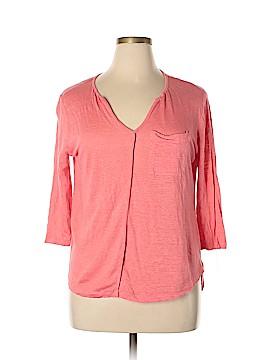 Bordeaux 3/4 Sleeve T-Shirt Size L