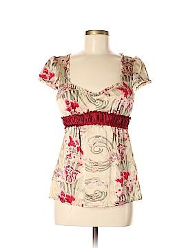Nanette Lepore Short Sleeve Silk Top Size 8