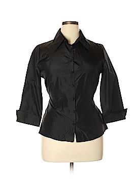 Flores & Flores 3/4 Sleeve Silk Top Size 14
