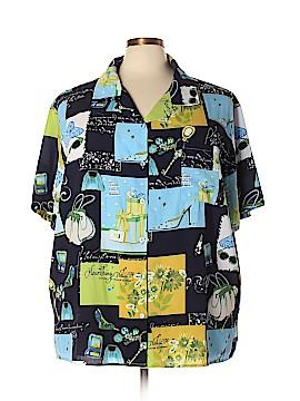 Susan Graver Short Sleeve Blouse Size 3X (Plus)