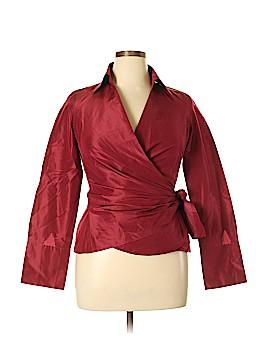 Ann Taylor Long Sleeve Silk Top Size 10